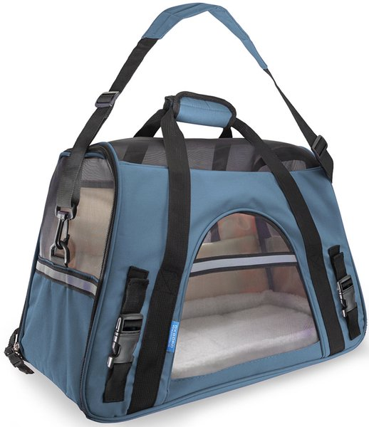 OxGord Pet Carrier Soft Sided Cat / Dog Comfort Travel Tote Bag Airline Approved With 10 Colors