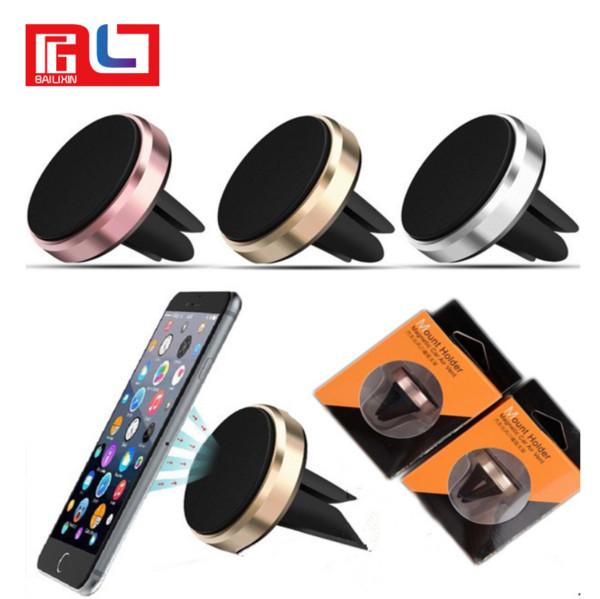 Sostenedor universal magnético del teléfono móvil de la salida de aire del soporte del coche para Samsung Galaxy S7 S6 con el paquete al por menor