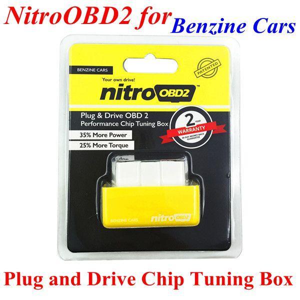 Top Quality Plug and drive NitroOBD2 Desempenho Tuning Chip Box para Benzine Carros ECU Chip Turning frete grátis
