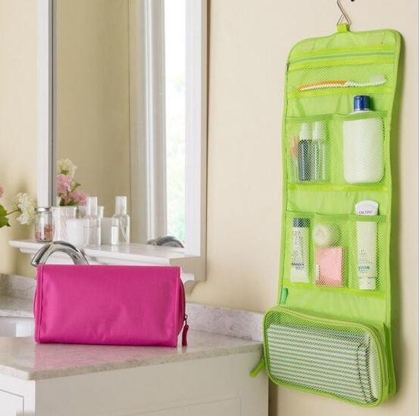 Gesundheit Beauty Hanging Organizer Bag Faltbare Kosmetik Make-up Fall Lagerung Reisen Kulturbeutel
