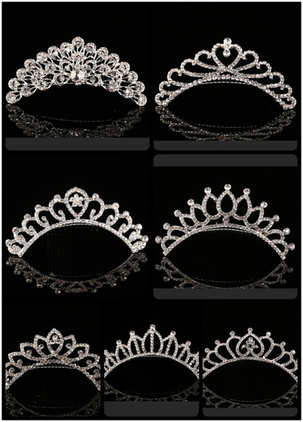 top popular 2021 Trendy 10 Styles Cheapest Shining Rhinestone Crown Girls' Bride Tiaras Fashion Crowns Bridal Accessories For Wedding Event 2021