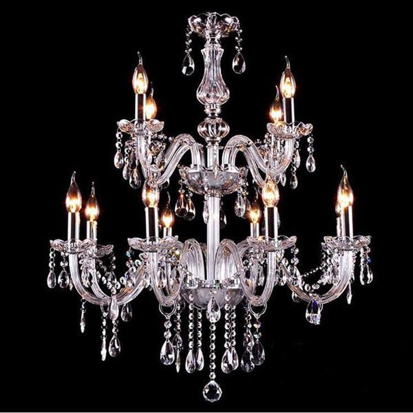 Noble Luxurious Export K9 luces de araña de cristal claro globo de cristal luz colgante opcional Lustres De Cristal Candelabros