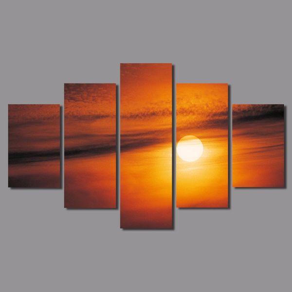 Acquista / Set Arancione Big Size Decorazione Sole Wall Art Immagini  Tramonto Paesaggio Oro Tela Pittura Soggiorno Home Decor Unframed A $21.72  Dal ...