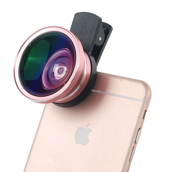 Wholesale-3 in 1 HD Phone Camera Lens Kit for  Wide Angle + Macro + 12X Zoom Telescope Lens with Clip for Smartphone