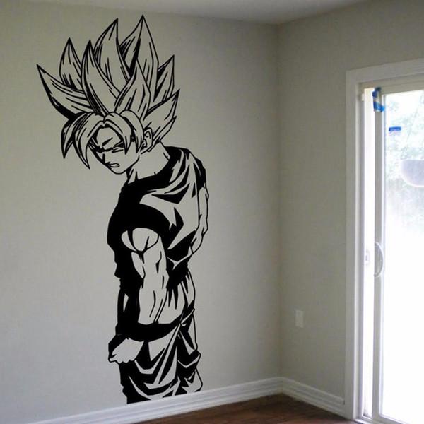 D Super Saiyan Goku Vinyl Wall Decal Dragon Ball Z DBZ Anime - Custom vinyl wall decals dragon