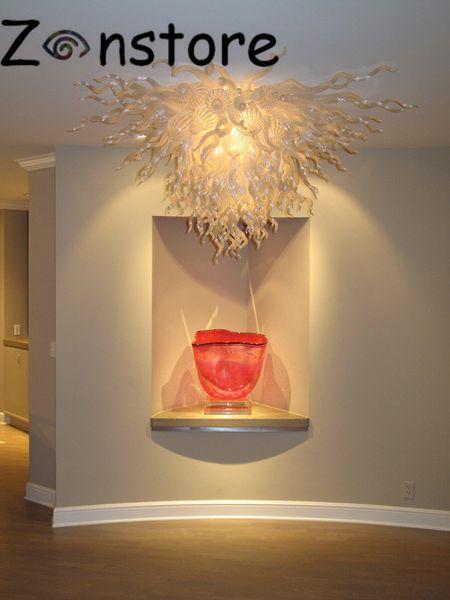 Briliant Белый Художественное Стекло Лампы Галерея Потолочный Декор светодиодные фонари 100% Потолочные Люстры Murnao Стеклянные Потолочные Люстры
