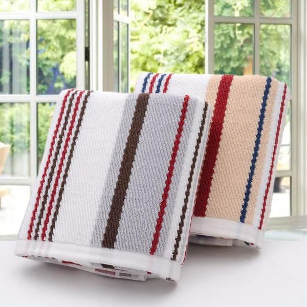 34 * 70cm Striped Qualität Baumwolle Gesicht Handtuch, Plain Schöne Terry Badezimmer  Handtücher Weicher Plüsch