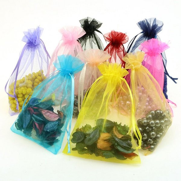 100pcs 11 * 16 cm Drawstring Organza drogheria gioielli e sacchetti dello spuntino sacchetto di Natale e regalo di nozze sacchetto di imballaggio della caramella B144 $ 18 senza trackin
