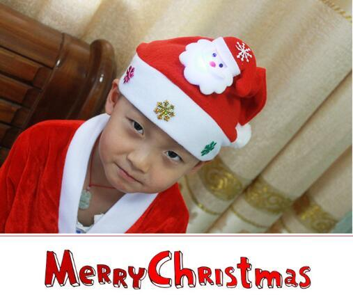 2016 Best Selling Kids Chirstmas Santa Claus Reindeer Snowman Snowflakes Hats adornos navidad 2016 kerst Hat For Children new Year Gift