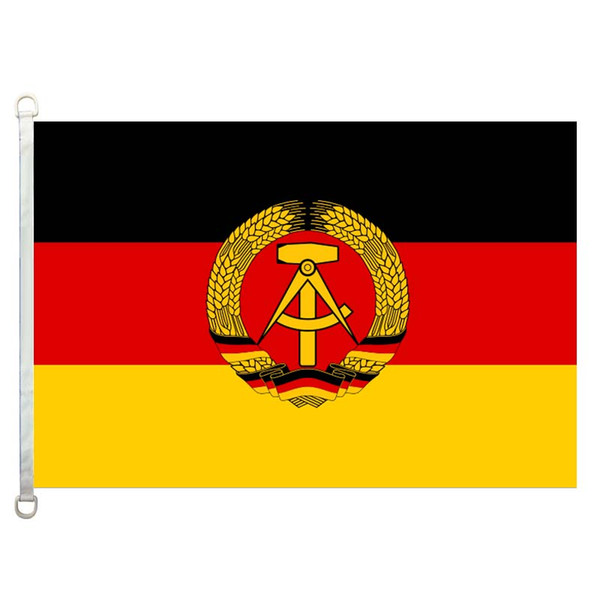 Good Flag Allemagne-est Flags Banner 3X5FT-90x150cm 100% Polyester country flags, 110gsm Warp Knitted Fabric Outdoor Flag