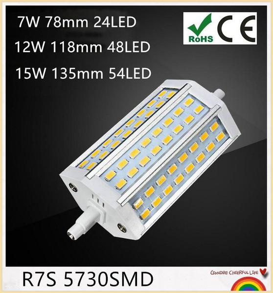 YON 10Pcs R7S LED 7W | 78mm 118mm | 12W 135mm | 15W J118 J78 J135 LED R7S DIMMABLE 5730 lampadina alogena Proiettore alogeno