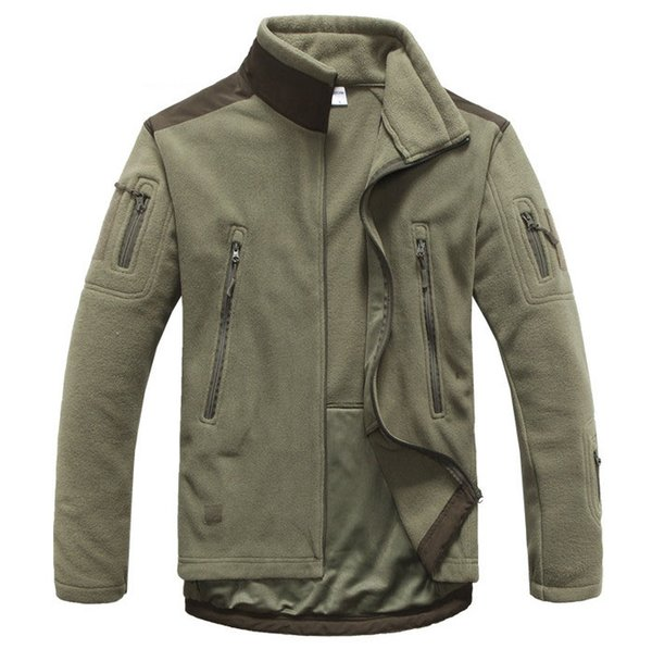 Fall-Men's autumn and winter outdoor warm breathable fleece jacket thicker jaqueta masculina Men casual Outerwear Army jacket men