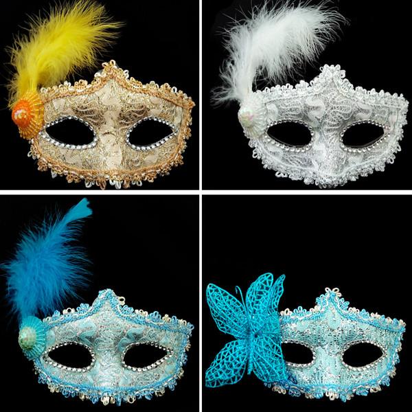 Новые Изысканные Кружева Горный Хрусталь Кожа Хэллоуин макияжа танцевальная маска половина лица кожа кружева цветок Маски для сна