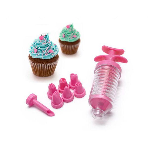 8pcs Nozzles Cake Dessert Decorating Tips Set DIY Cupcake Pastry Icing Piping Cream Syringe Bakeware Cake Decorating Tips Free Shipping