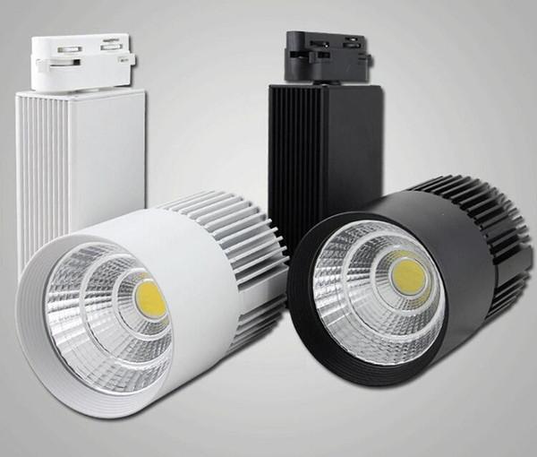 La venta al por menor del nuevo diseño 10pcs / lot 30W AC110-240V Noverty COB llevó la luz de la pista, lámpara de pared del punto, proyector Mejor precio de alta calidad