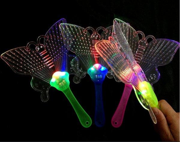 New hot flash light colorful fan fan dance props wholesale selling luminous toy show