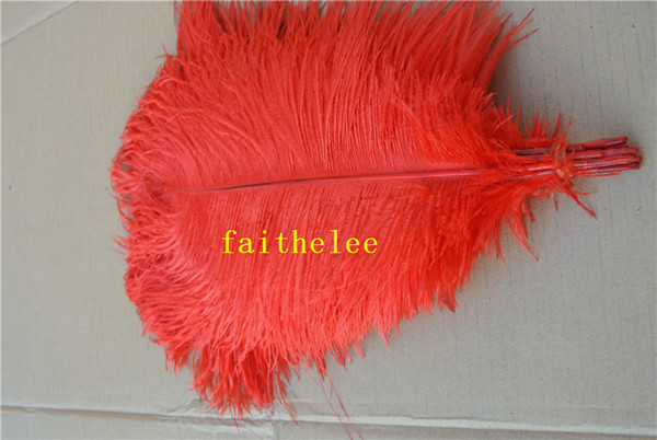 Wholesale-FREE SHIPPING 100pcs/lot 18-20inch red Ostrich Feather plume for wedding centerpiece decor party table event supply