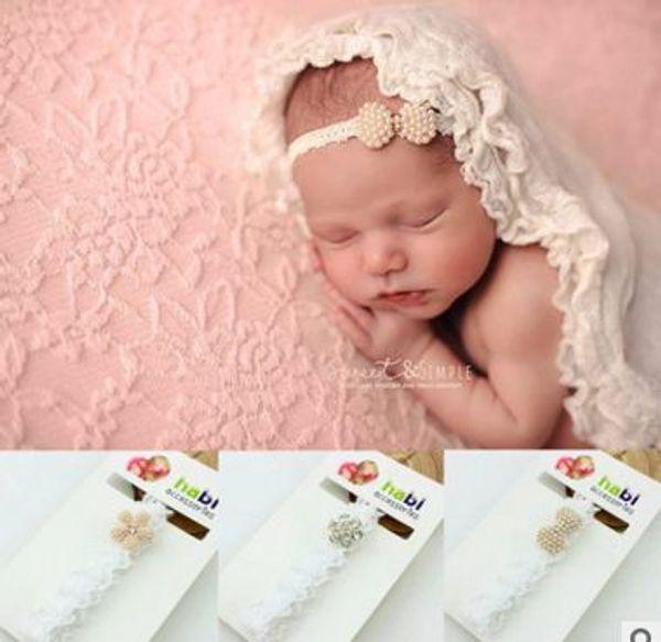 Baby Headbands Pearl Diamond Neonati Fascia per capelli Accessorio per capelli per bambini Bambina Accessori per bambine Puntelli per foto