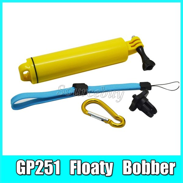 30 sets Handheld Grip Monopod with Strap And Screw Waterproof Go Pro Floating Bobber Kit For Sony Gopro Hero 4 3+/3 sj