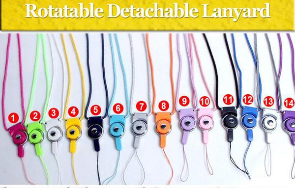 Wholesale-Abnehmbare Lanyard für Telefon Umhängeband Ring Lanyard Hängende Charme Sicherheitsabzeichen Kette für Handy MP3 / 4-Laufwerke IDCard