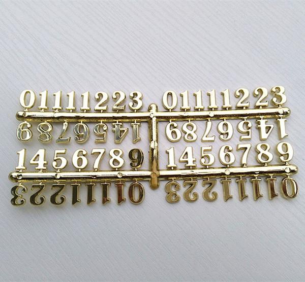 Números calientes del oro de la buena calidad 50pcs 1 .5cm para los accesorios del reloj