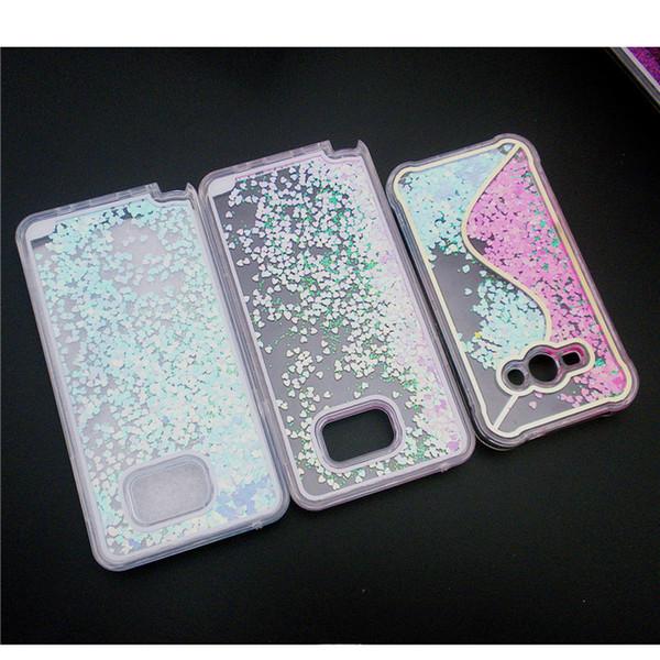 Пользовательские оптовые фрукты блеск жидкий песок Зыбучих Песков чехол для iPhone для Samsusng S6 Edge Plus сотовый телефон чехол