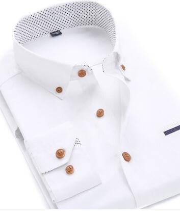Quality Plus Size Professional Men Dress Shirt Long Sleeve Fashion Moisture Wicking Slim Fit Soft Business Shirts Men Clothing Factory Sale