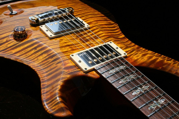 best selling Custom Reed Smith Amber Brown Flame Maple DGT David Grissom Signature Electric Guitar Very Sepcial Fingerboard Inlay