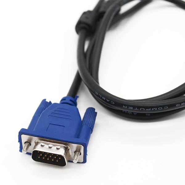 HDB15 Erkek için 1.4M VGA Kablosu HDB15 Erkek konektörü pc TV Adaptörü Dönüştürücü için