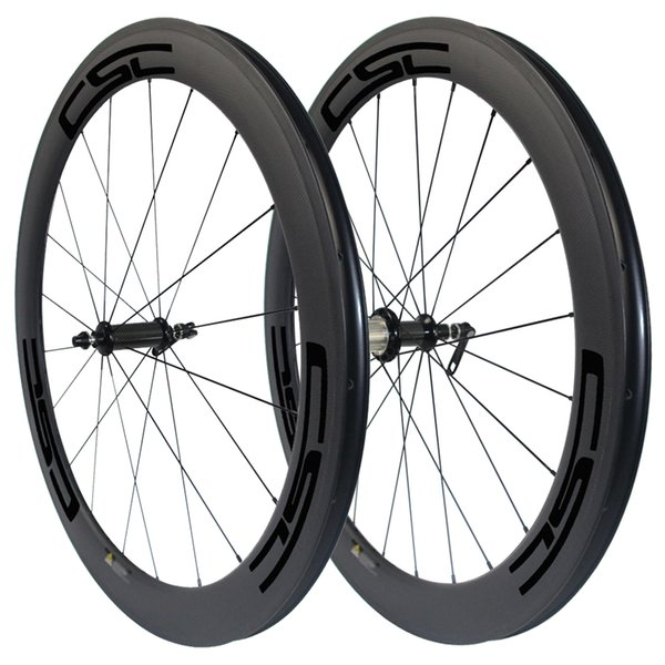 Straight pull R36 carbon Ceramic Bearing 60mm Clincher/ Tubular/ Tubeless carbon road bicycle wheels