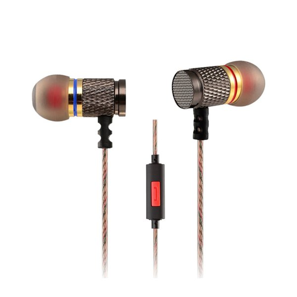 New KZ EDR1 Professional In-Ear Metal Earphones Aluminum Heavy Bass Sound Music Mobile Phone Computer Mp3 Use Headset