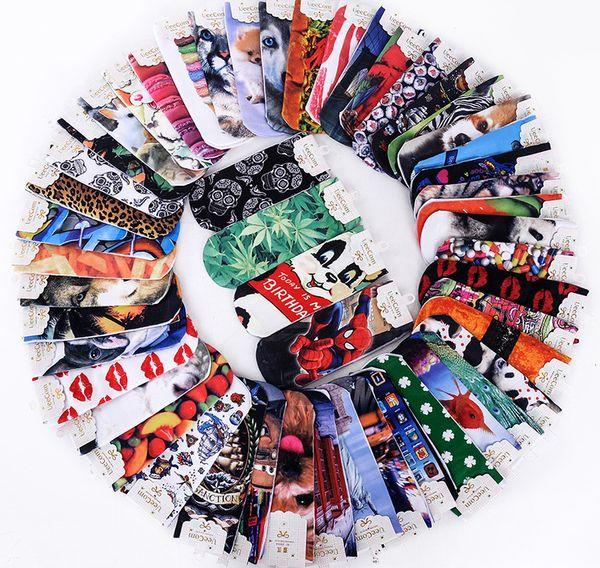 top popular New Arrival 3D Printed Socks 3D Animals Prints Man Women Ankle Socks Multil Colors Cotton Blend Sock Unisex Charactor Cat Face Prints Socks 2020