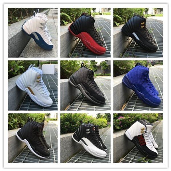 Con scatola 12 Rising Sun Gym rosso Wool PSNY uomini scarpe da basket 12s scarpe sportive sneakers di alta qualità 36-47