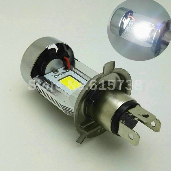 top popular 100% original Waterproof Motorcycle LED Headlight H4 hi lo Bulb HS1 COB Head lamp 20W*2 2000LM*2 DC12V 6500K White Motobike 2020