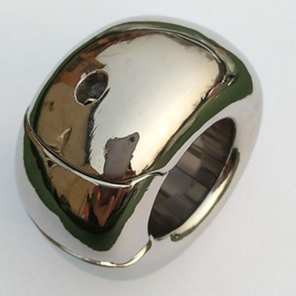 Bola de acero inoxidable Stretcher Scrotum Colgante de retención de los hombres Bondage Scrotum Lock Traning Ring for Men