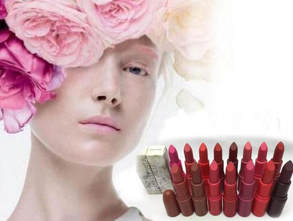 VENTA CALIENTE Marca Profesional Lápiz Labial de Maquillaje Gia Valli Colección Mate Lápiz Labial 3g Tiene 15 Colores Con Nombre en Inglés (50 Unids / lote)