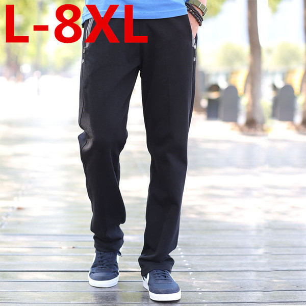 Wholesale- 2017 Plus size 8XL 7XL 6XL 5XL Casual Pants Male Trousers Straight Spring and summer Health Pants Male Large size pantsTrousers