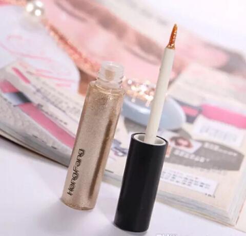 Nuevo Shiny Eye Liner Glitter Eyeshadow Líquido Brillante Delineador Bronzer Gold Shimmer Maquillaje Maquiagem Envío gratis