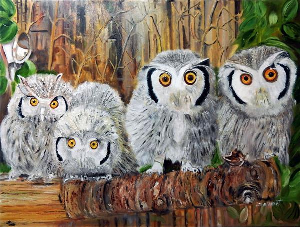 Diamond mosaic full round diamond embroidery needlework animal cute owl diy diamond painting cross stitch kits Mosaic Home Decor yx0387