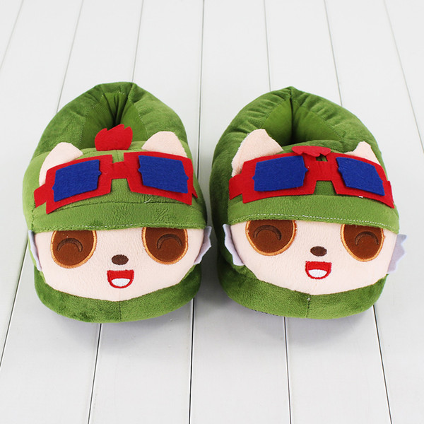 26cm League of Legends Teemo Slippers plush Soft Doll Toy birthday Christmas gift free shipping retail