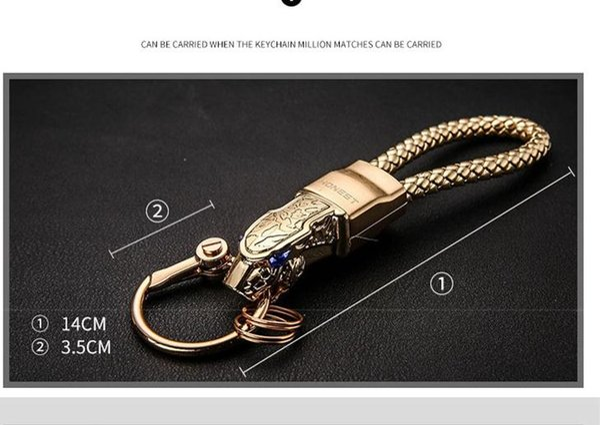 alloy Metal leopard car key chain Ring For AUDI A1 A3 A4 A6 A7 A8 Q3 Q5 Q7 S5 S6 TT TTS