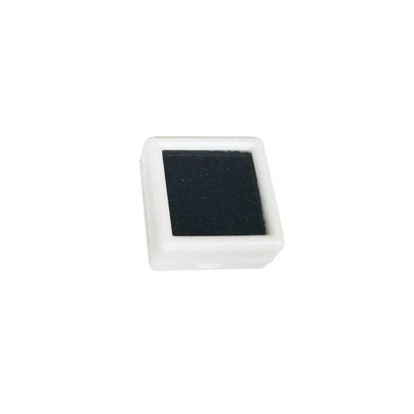 white with black foam
