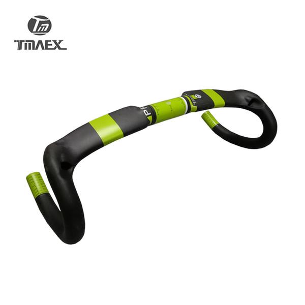 Road Bicycle Racing UD Matte Full Carbon Handlebar Internal Cable Carbon Bike Handlebar 31.8*400/420/440mm Green Matte