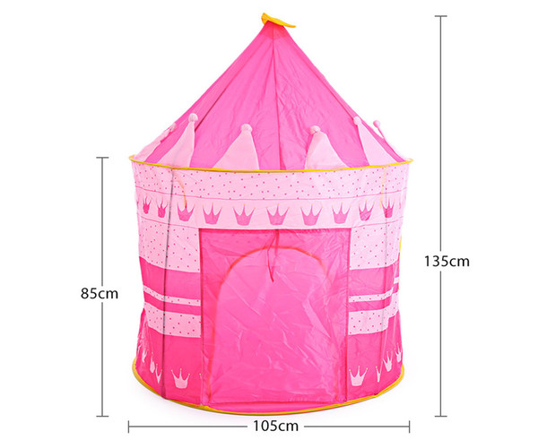 top popular Portable Outdoor Indoor Tent Castle Cubby Playhut For Children Folding Play House 2021