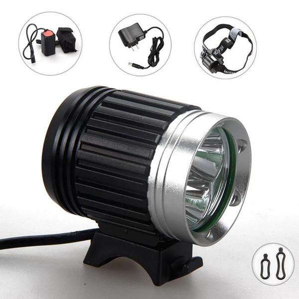6000 Lumens 3x CREE XM-L T6 LED Headlight 3T6 Headlamp Bicycle Bike Light Waterproof Flashlight+Battery Pack Free Shipping