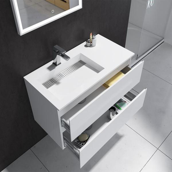 Venta al por mayor Muebles de baño de 900 mm vanidad de pie libre ...
