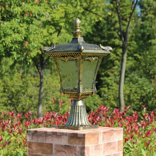 columna cabeza lmparas europa estilo jardn pared valla lmpara patio poste luces exterior chapiter iluminacin wcs