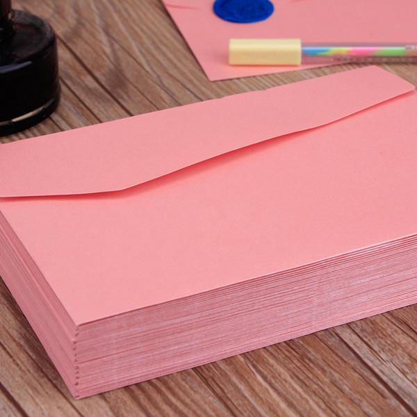 Atacado-50 pçs / set tamanho A4 170 * 120mm pérola rosa papel comum presente janela envelopes / convite de casamento / sobres kraft / papel / Mu 2228