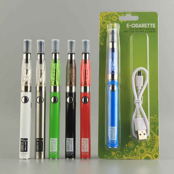 Vape UGO VII 650mah 900mah battery with USB Passthrough CE4 vape pen Blister kits UGO starter kit e cig China Direct