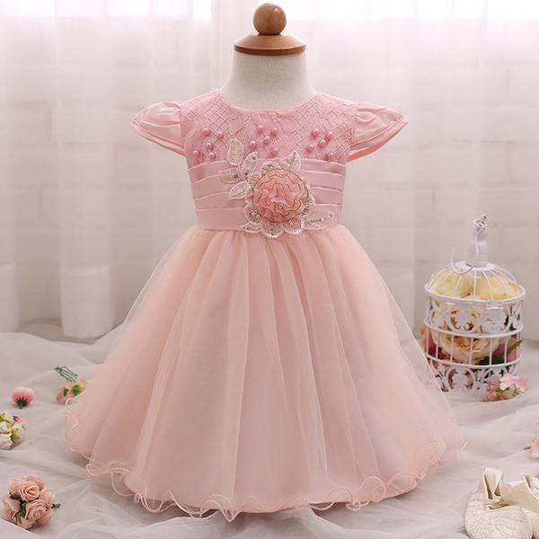 Compre Vestido De Niña De Moda De Verano De Encaje De Flores Bordado ...